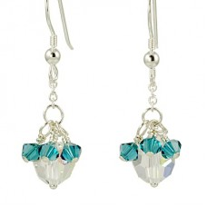 Crystal Drop and Bicone Dangle Earrings