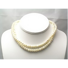 Double-Stranded Freshwater Pearl Convertible Necklace