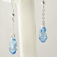 Pear Shaped Crystal Drop Earrings
