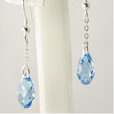 Pear Shaped Crystal Drop Earrings
