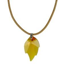 Swarovski Crystal Leaf Necklace